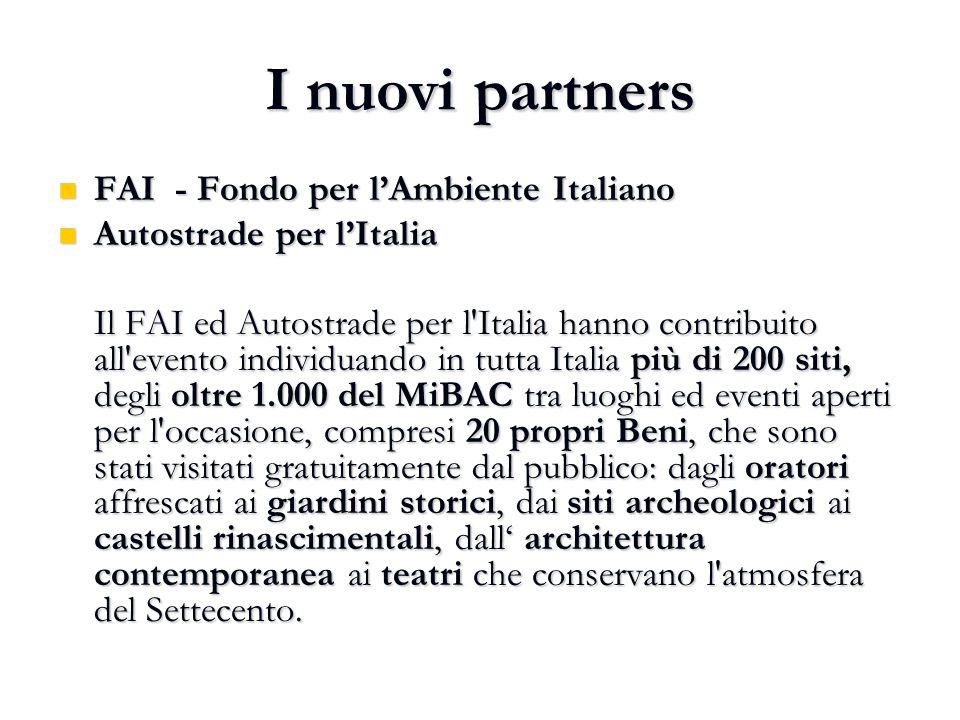 I nuovi partners FAI - Fondo per l'Ambiente Italiano