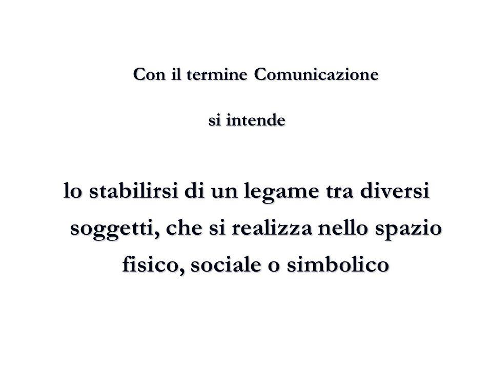 Con il termine Comunicazione