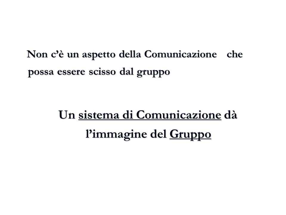 Un sistema di Comunicazione dà l'immagine del Gruppo