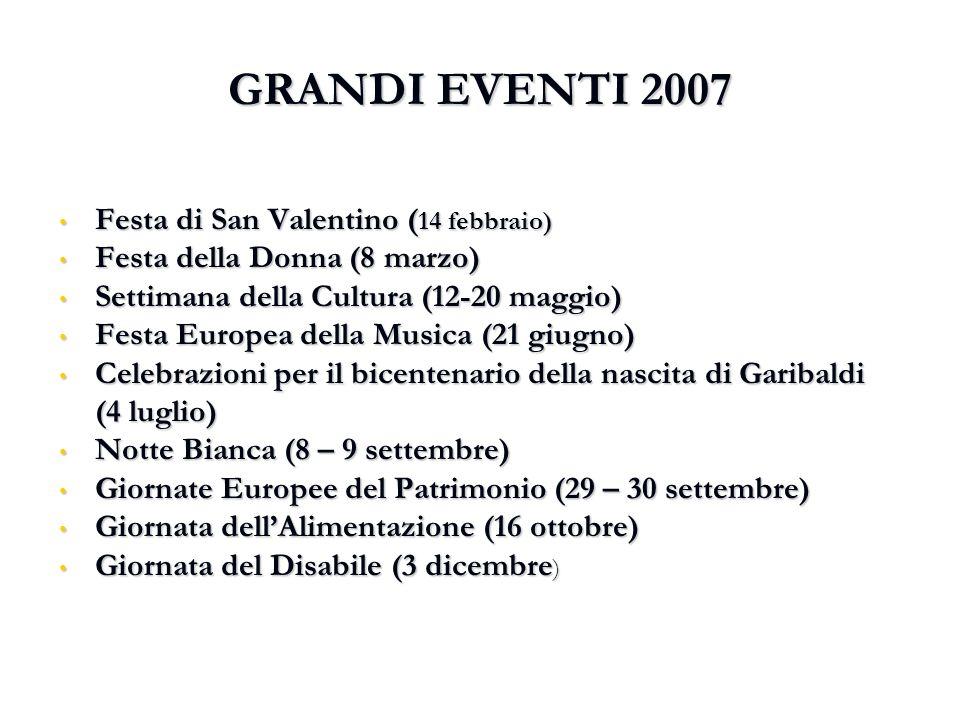 GRANDI EVENTI 2007 Festa di San Valentino (14 febbraio)