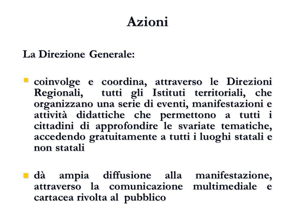 Azioni La Direzione Generale:
