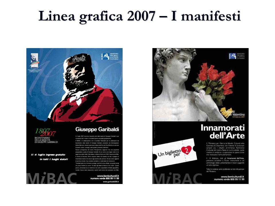 Linea grafica 2007 – I manifesti
