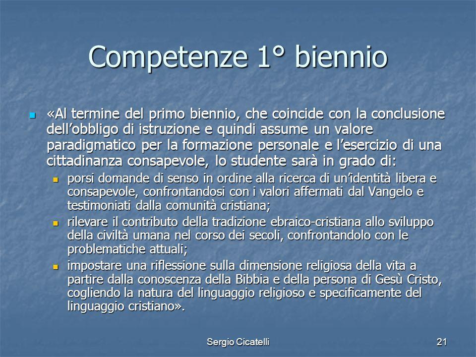 Competenze 1° biennio