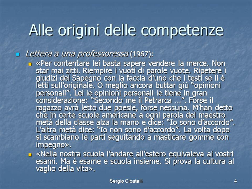 Alle origini delle competenze