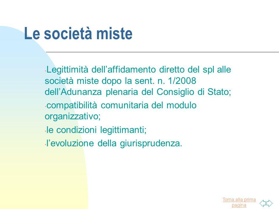 Le società miste
