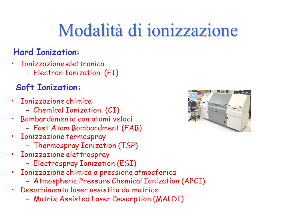 Modalità di ionizzazione