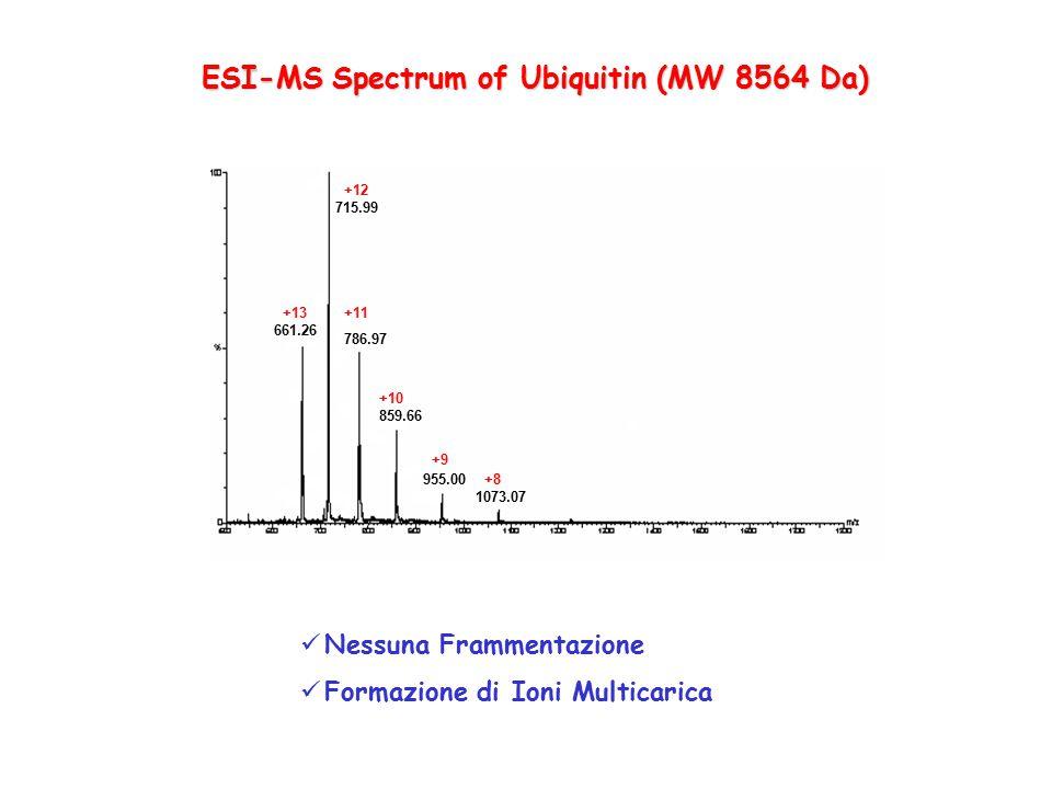 ESI-MS Spectrum of Ubiquitin (MW 8564 Da)