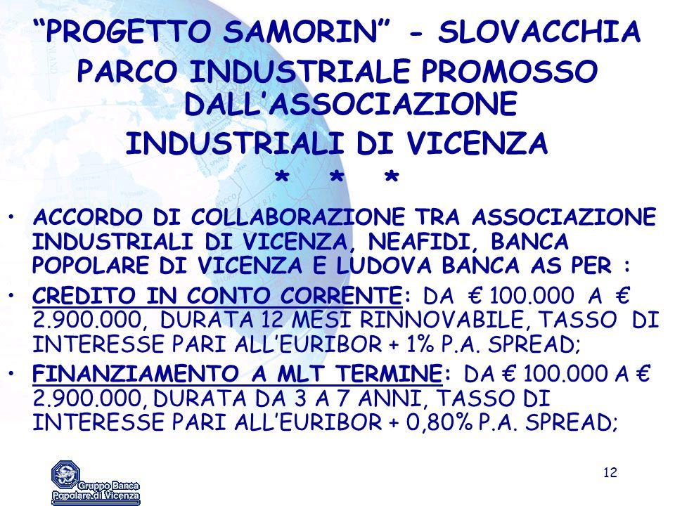 PARCO INDUSTRIALE PROMOSSO DALL'ASSOCIAZIONE INDUSTRIALI DI VICENZA