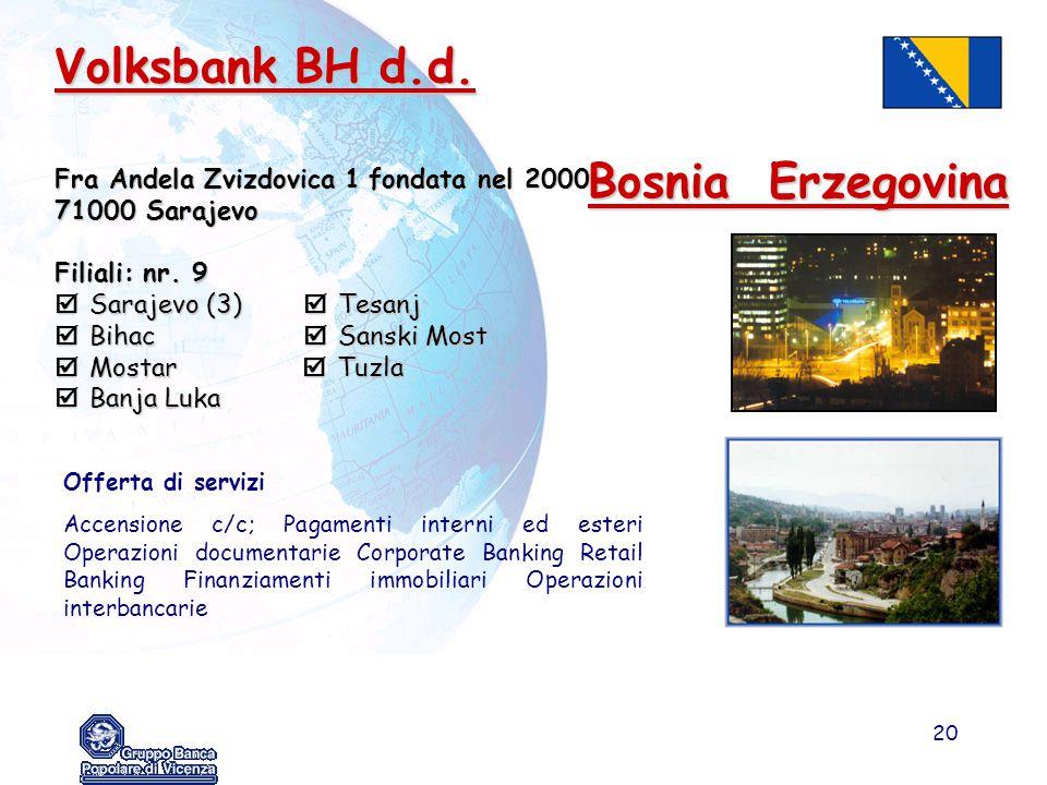 Volksbank BH d.d. Bosnia Erzegovina