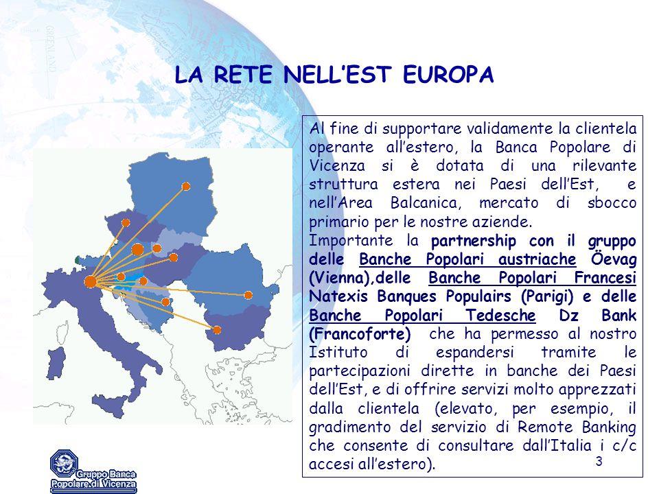 LA RETE NELL'EST EUROPA