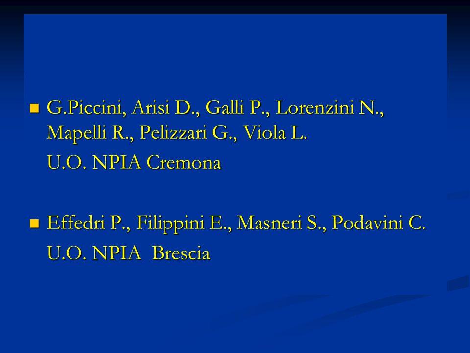 G. Piccini, Arisi D. , Galli P. , Lorenzini N. , Mapelli R