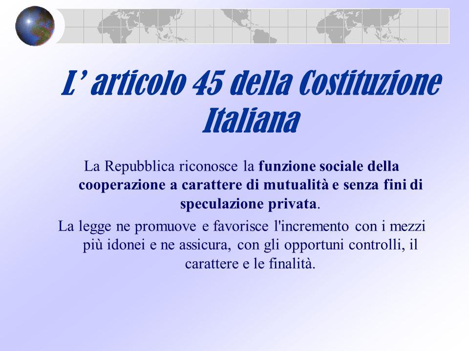 L' articolo 45 della Costituzione Italiana