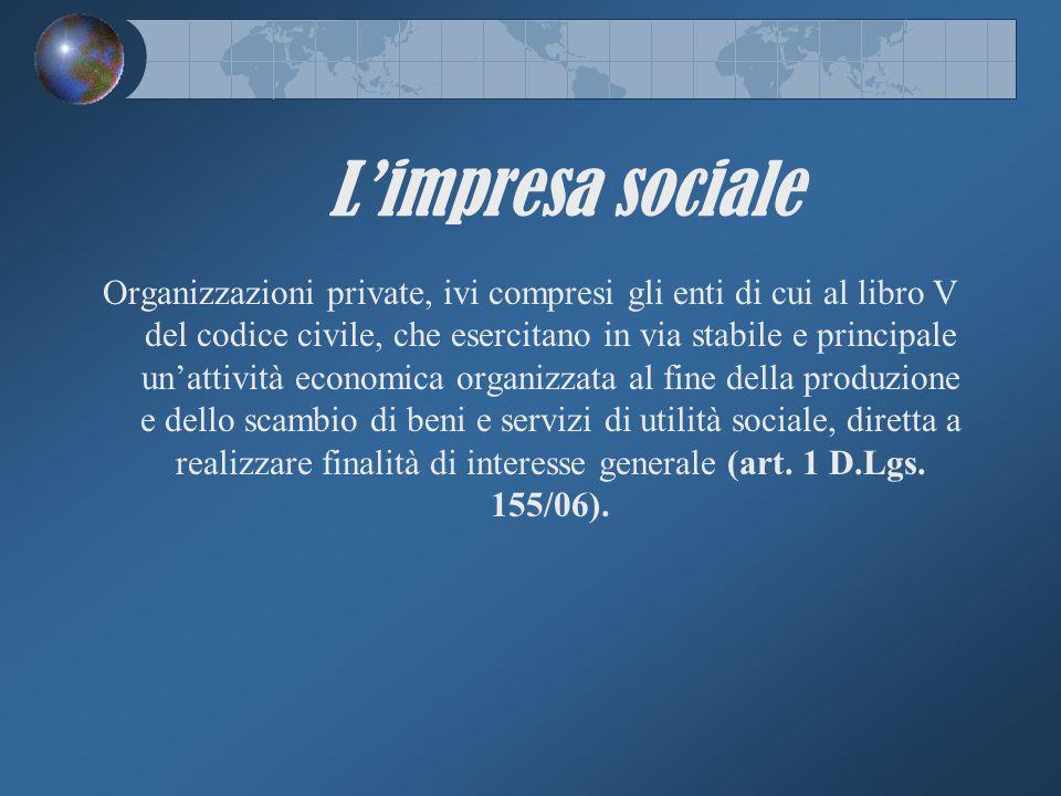 L'impresa sociale