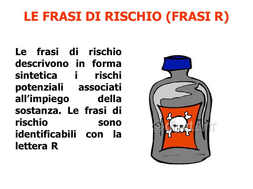 LE FRASI DI RISCHIO (FRASI R)