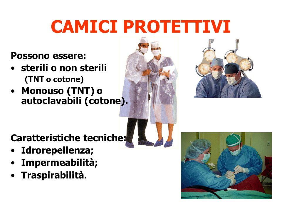 CAMICI PROTETTIVI Possono essere: sterili o non sterili