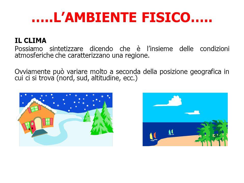 …..L'AMBIENTE FISICO….. IL CLIMA