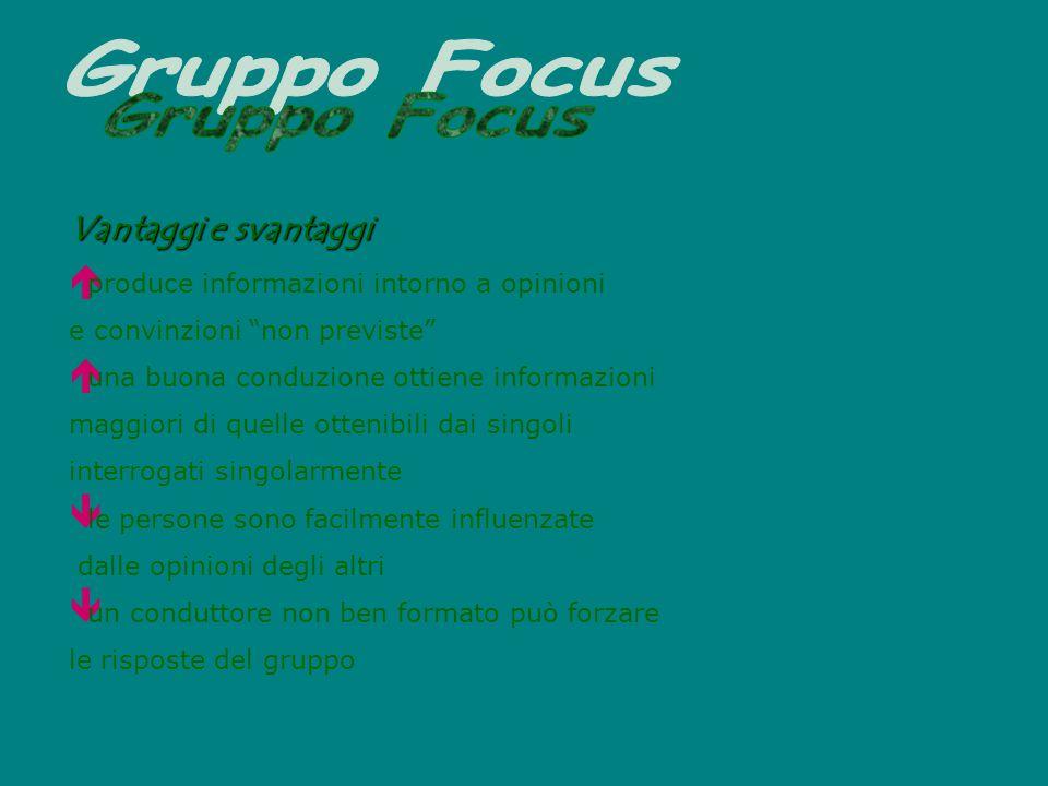 Gruppo Focus Vantaggi e svantaggi