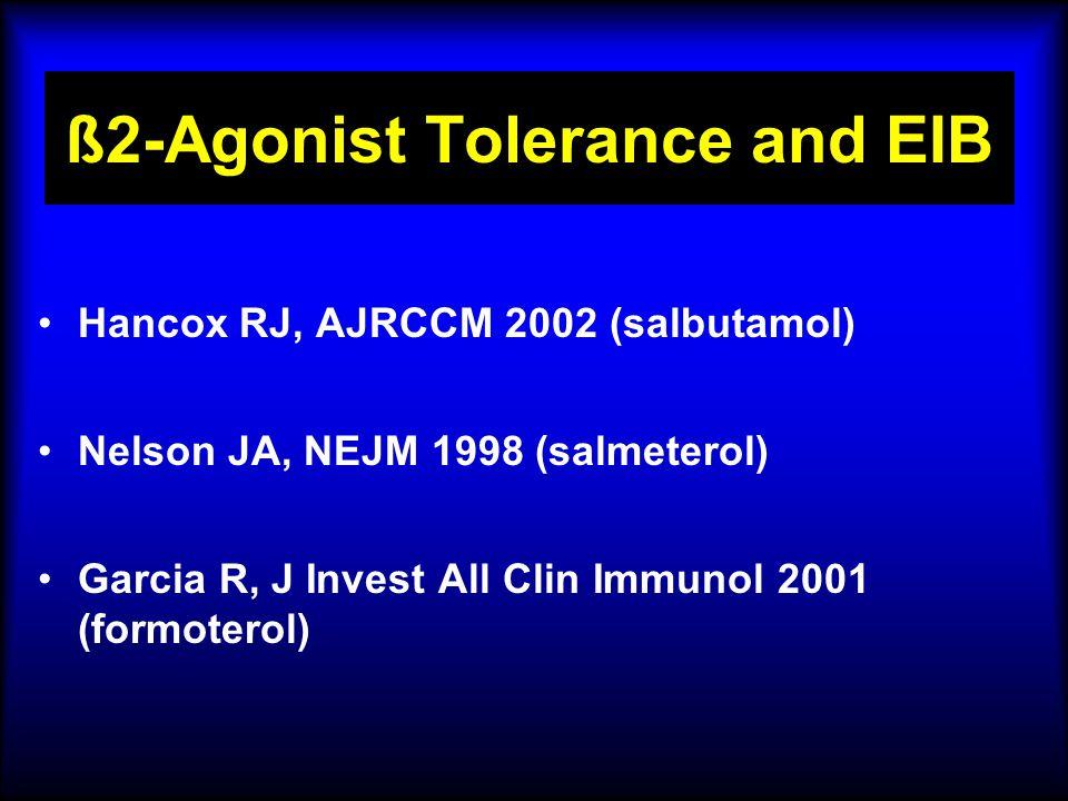 ß2-Agonist Tolerance and EIB