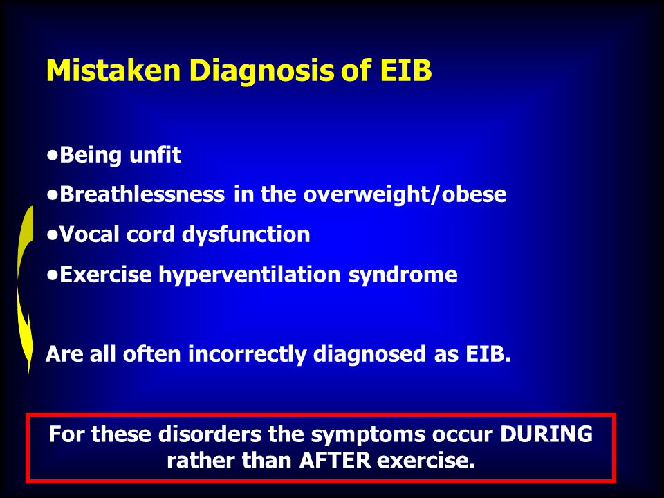 Mistaken Diagnosis of EIB