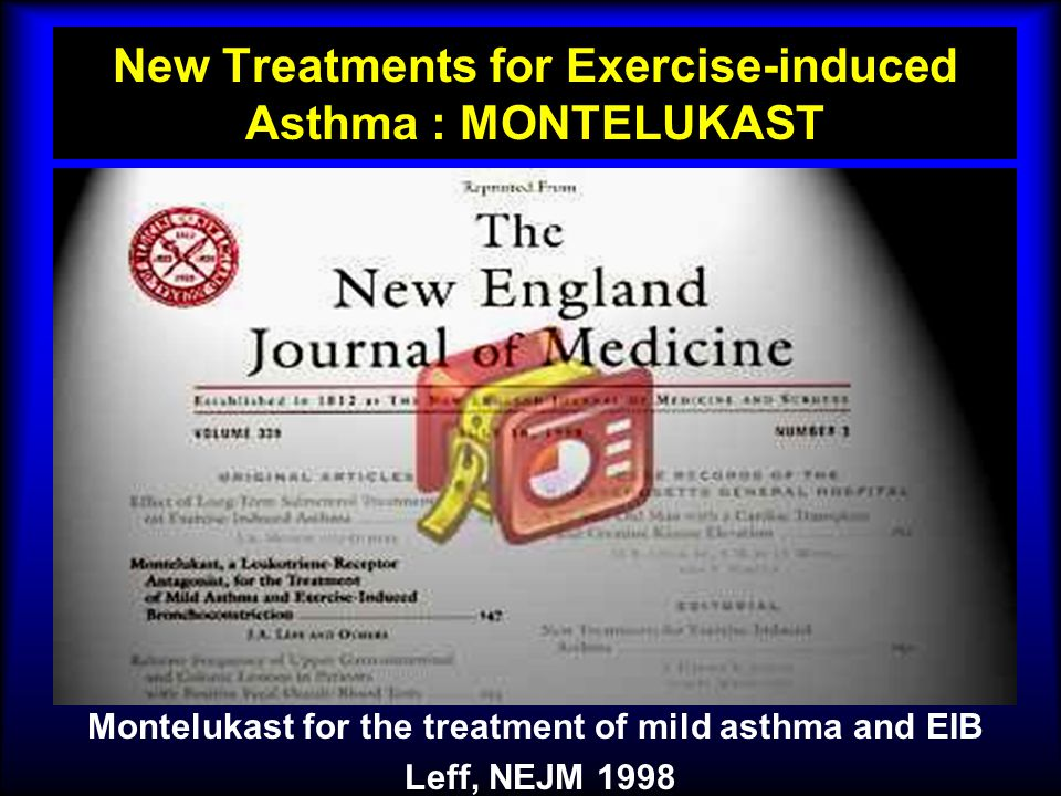New Treatments for Exercise-induced Asthma : MONTELUKAST