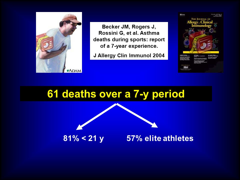 61 deaths over a 7-y period 81% < 21 y 57% elite athletes