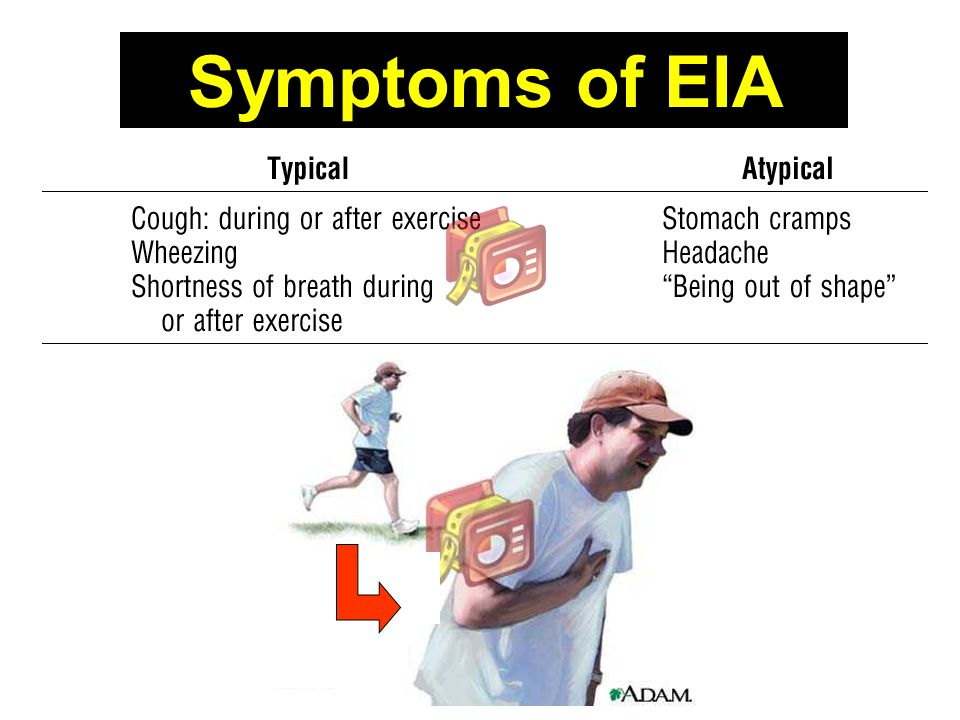 Symptoms of EIA