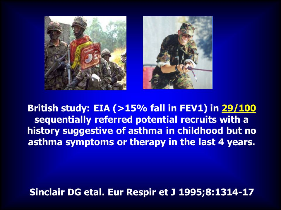 Sinclair DG etal. Eur Respir et J 1995;8:1314-17