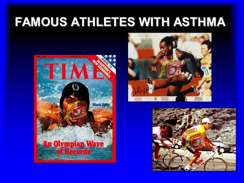 FAMOUS ATHLETES WITH ASTHMA