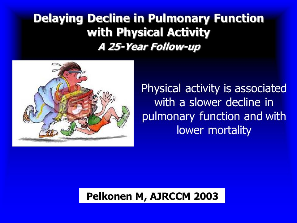 Delaying Decline in Pulmonary Function with Physical Activity A 25-Year Follow-up