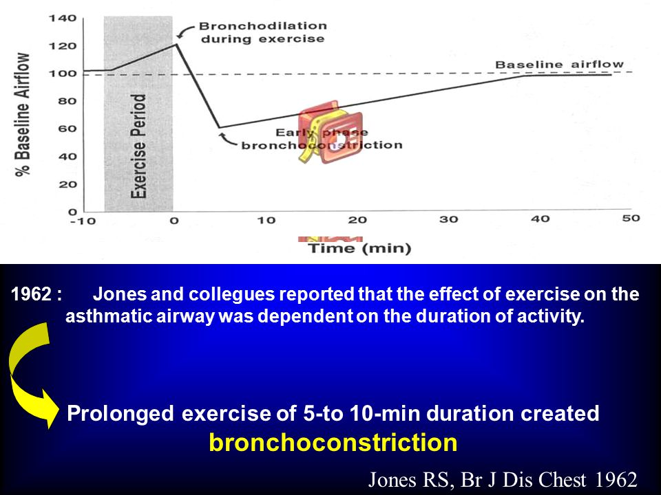 Prolonged exercise of 5-to 10-min duration created bronchoconstriction