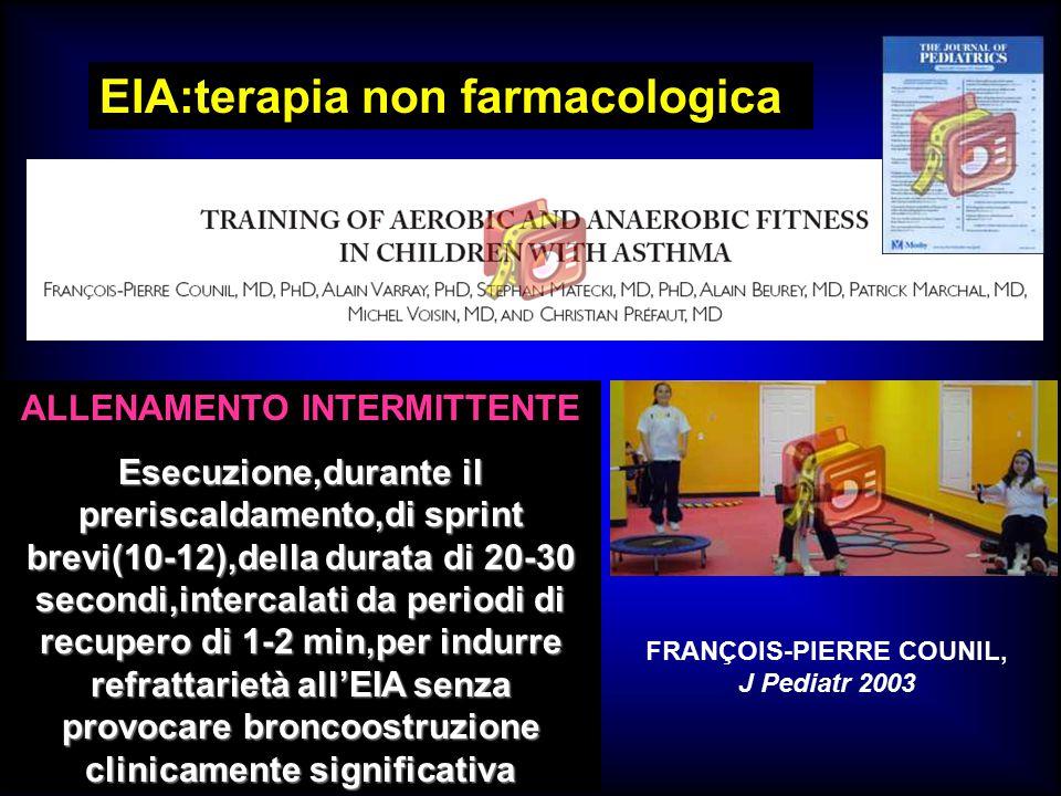 ALLENAMENTO INTERMITTENTE FRANÇOIS-PIERRE COUNIL, J Pediatr 2003