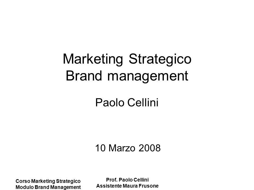 Marketing Strategico Brand management Paolo Cellini