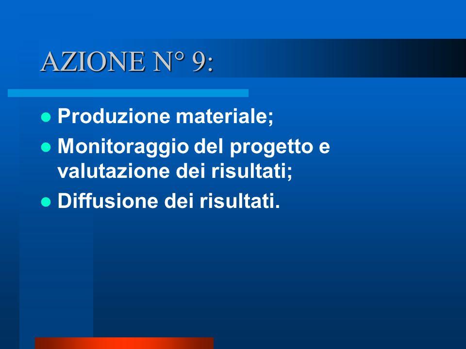 AZIONE N° 9: Produzione materiale;