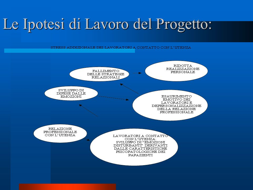 Le Ipotesi di Lavoro del Progetto: