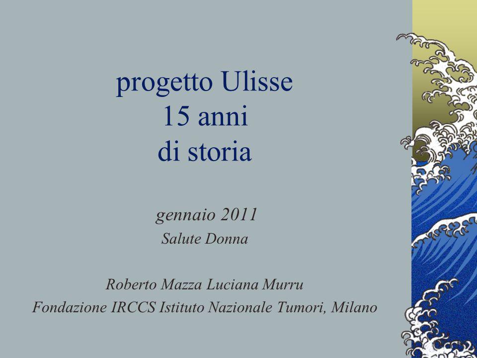 progetto Ulisse 15 anni di storia