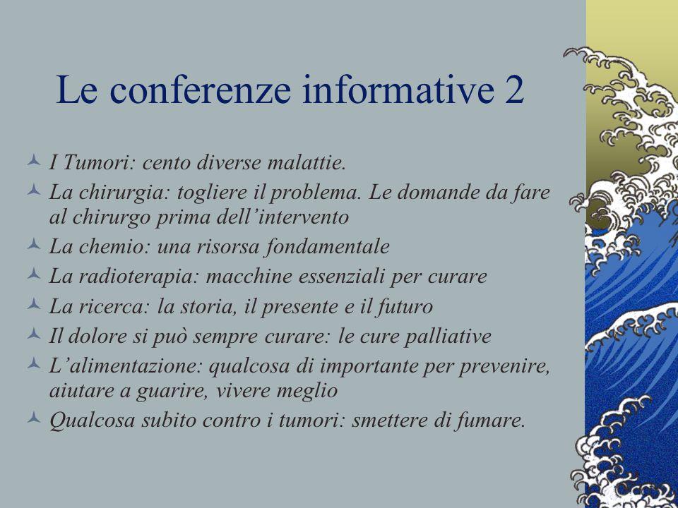 Le conferenze informative 2