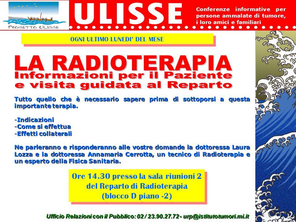 Informazioni per il Paziente e visita guidata al Reparto