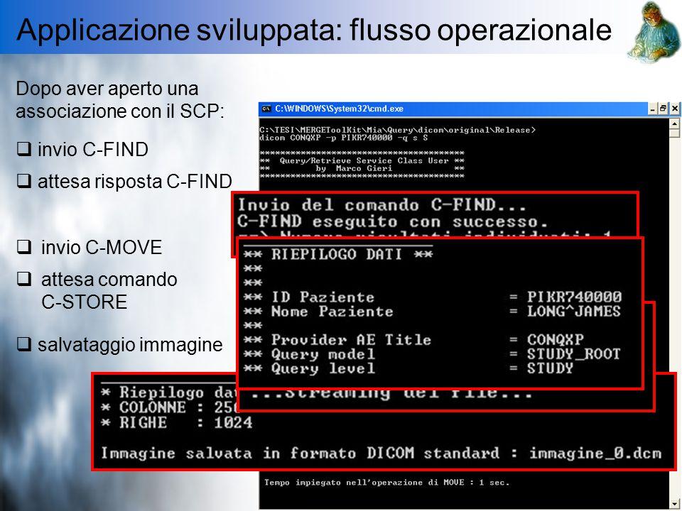 Applicazione sviluppata: flusso operazionale