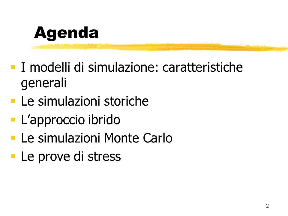 Agenda I modelli di simulazione: caratteristiche generali