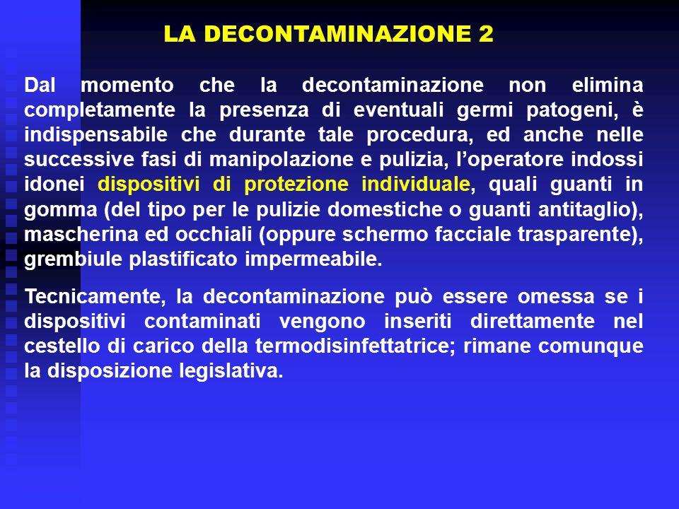 LA DECONTAMINAZIONE 2