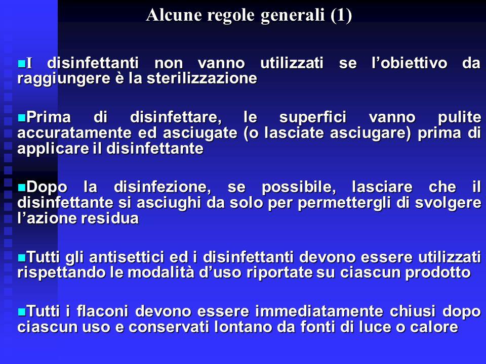 Alcune regole generali (1)