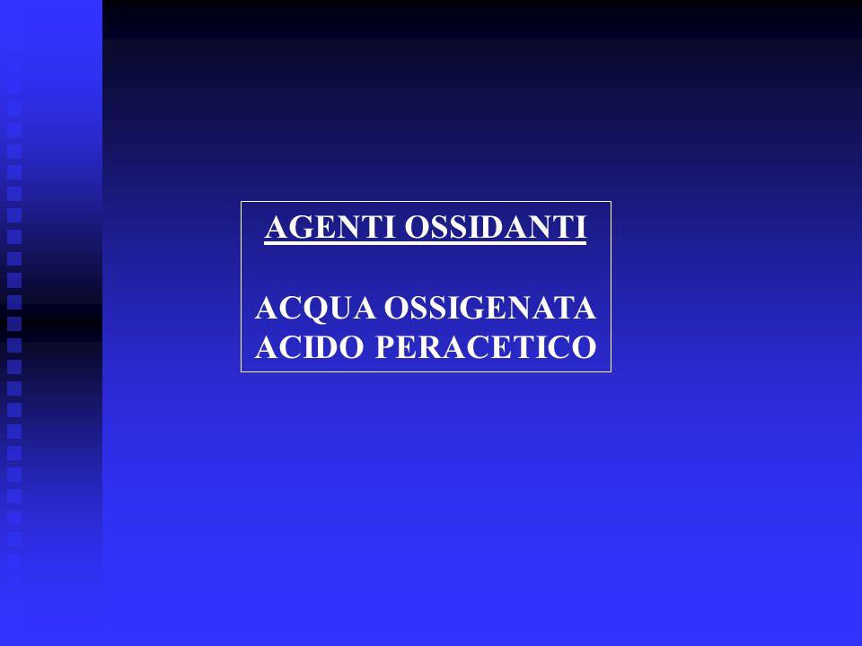 AGENTI OSSIDANTI ACQUA OSSIGENATA ACIDO PERACETICO
