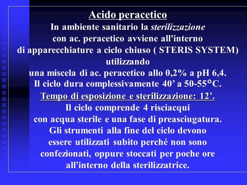 Acido peracetico In ambiente sanitario la sterilizzazione