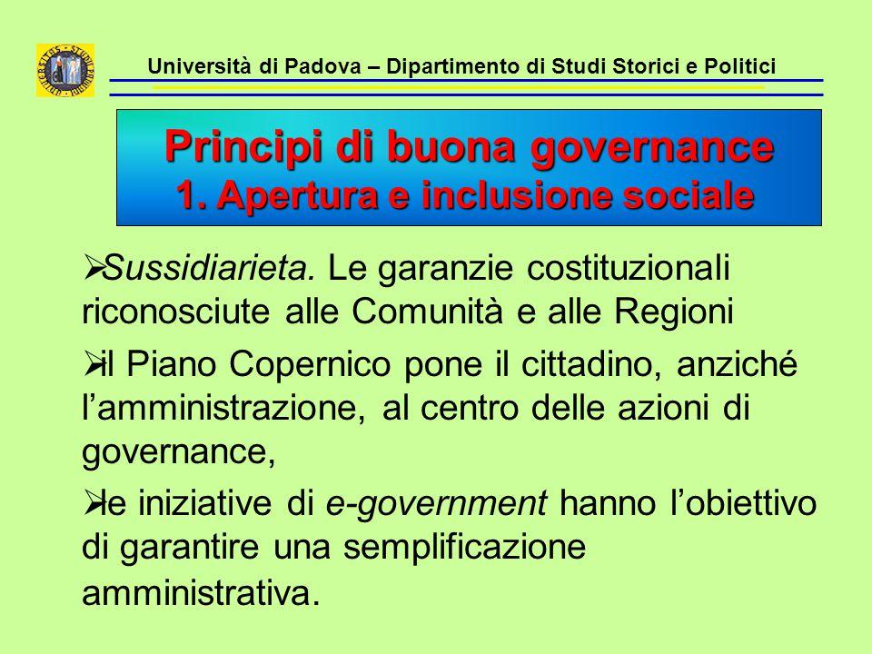 Università di Padova – Dipartimento di Studi Storici e Politici