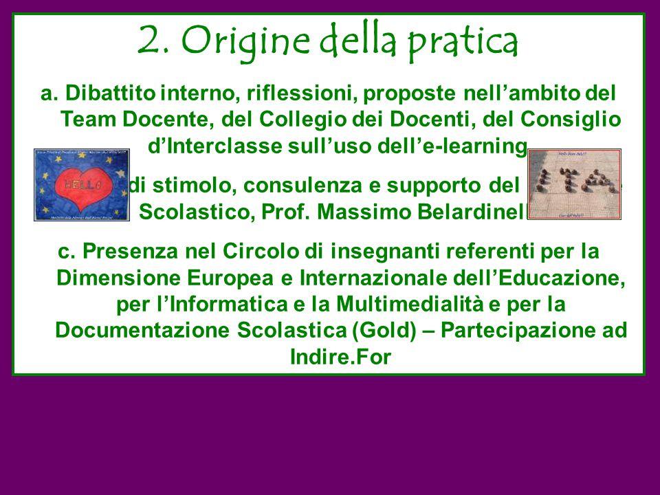 2. Origine della pratica