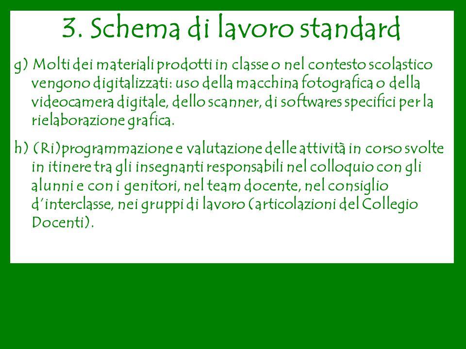 3. Schema di lavoro standard