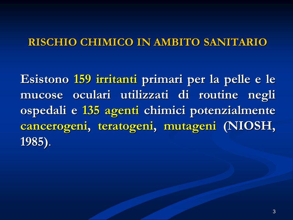 RISCHIO CHIMICO IN AMBITO SANITARIO