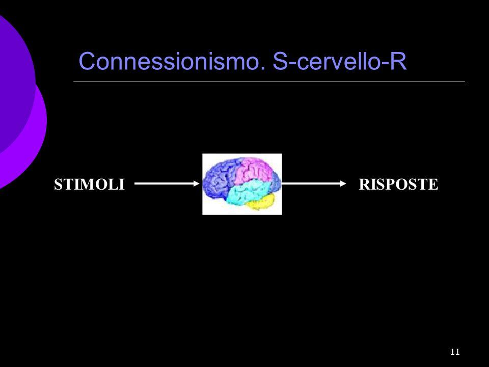 Connessionismo. S-cervello-R