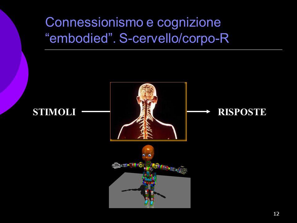 Connessionismo e cognizione embodied . S-cervello/corpo-R