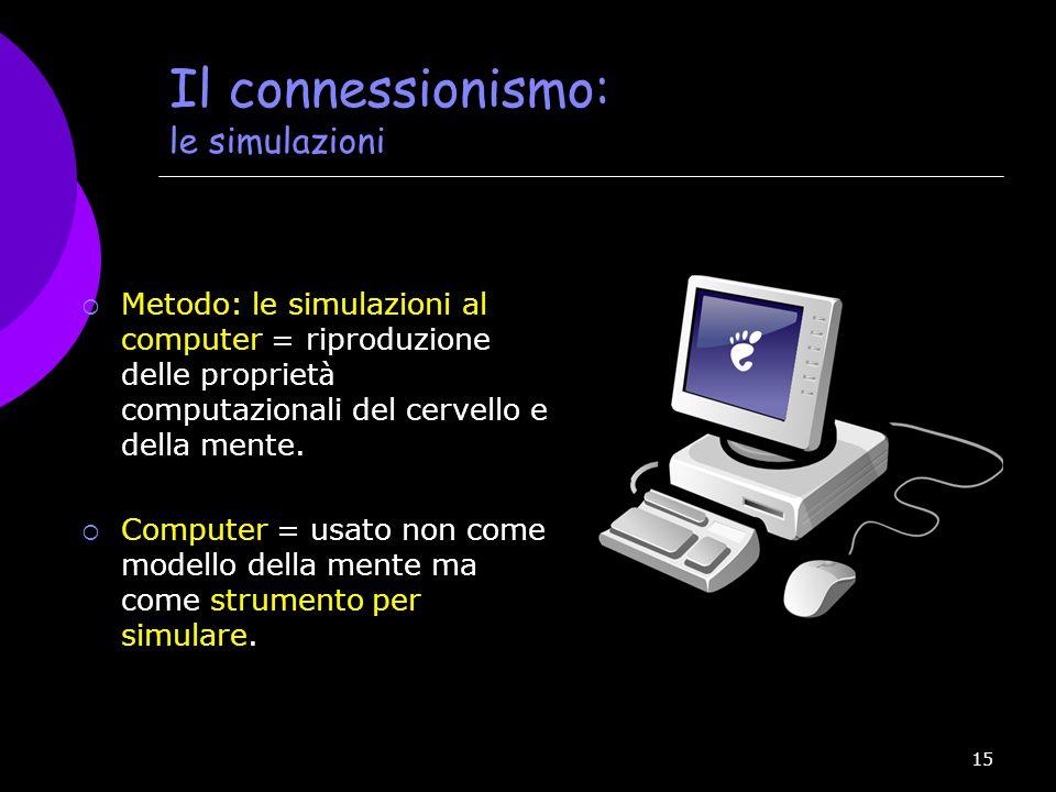 Il connessionismo: le simulazioni